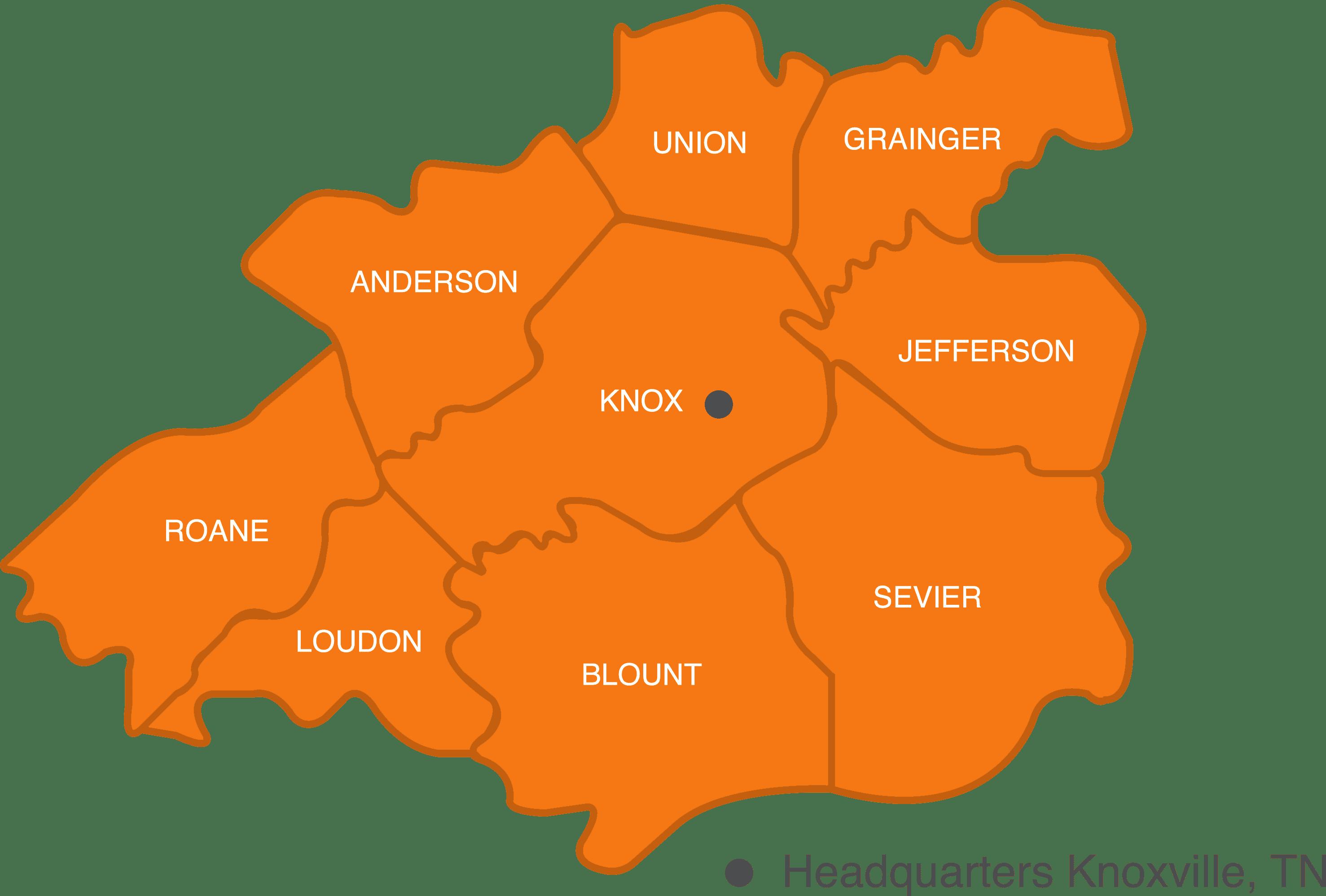 EAST TN Map new orange