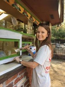 Volunteer painting stand