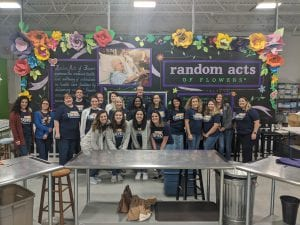 KnoxGives team at random acts of flowers