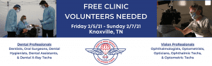 flyer for clinic volunteers